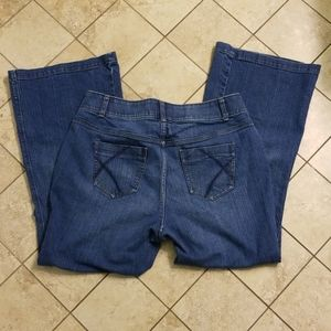 Lane Bryant Flare Tummy Technology Jeans Size 14P